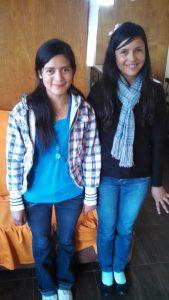 Photo - Alma Alumni - June 2015 - Karina and Esmeralda